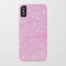 Pink Shiny Glitter Abstract Bokeh #decor #society6 iPhone Case