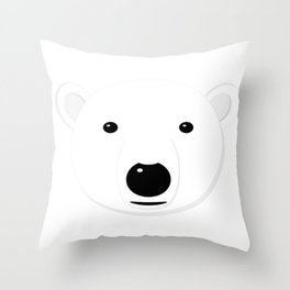 Cartoon Polar Bear Adult Throw Pillow