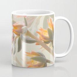 Orange Succulent Flowers Pastel Green Background #decor #society6 #buyart Coffee Mug