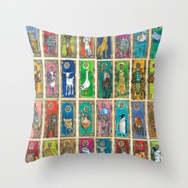 Money Animals Throw Pillow