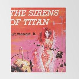 Vonnegut -  The Sirens of Titan Throw Blanket