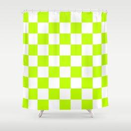 Checker (Lime/White) Shower Curtain