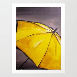 Yellow umbrella 2 Art Print