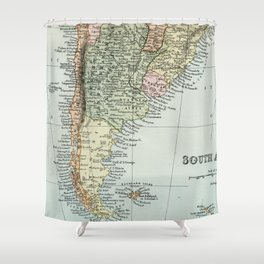 Vintage Map of the South of America Shower Curtain