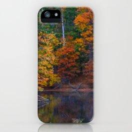 Autumn Foliage at Loch Raven Reservoir iPhone Case