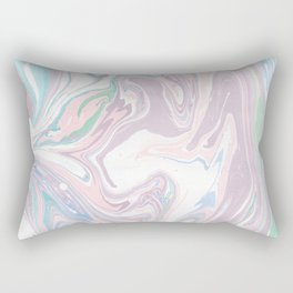 Abstract pastel pink purple teal watercolor marble Rectangular Pillow