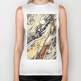 Abstract Aerial Cityscape - Acrylic Art by Fluid Nature Biker Tank
