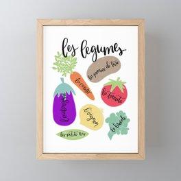Les Legumes Framed Mini Art Print