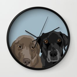 Two Labradors Wall Clock