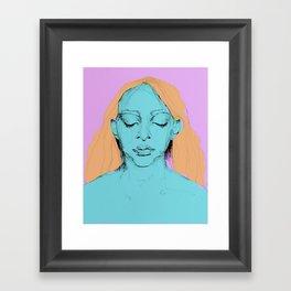 Sad Annie Framed Art Print