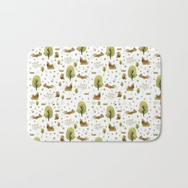 Squirrels in the forest Bath Mat