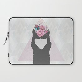 The Holy Llama Floral Geometric (white) Laptop Sleeve