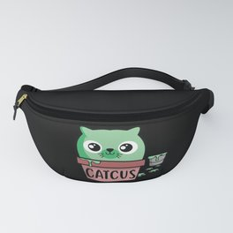 Cute Catcus design Gift for Cat Lovers Fanny Pack