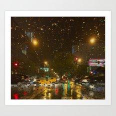 Taxi Cab Flash Art Print