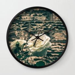 The moody garden flowers Wall Clock