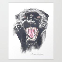 Roaring Panther Art Print