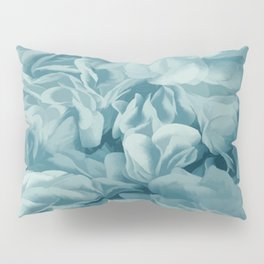 Soft Baby Blue Petal Ruffles Abstract Pillow Sham