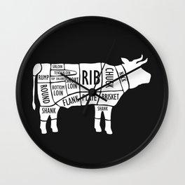 Butchery Guide Cuts Of Beef Wall Clock