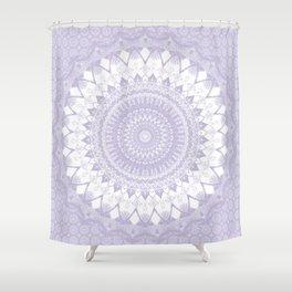 Boho Pastel Purple Mandala Shower Curtain