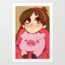 Mabel and Waddles Art Print