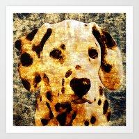 「sit」Dalmatian Art Print