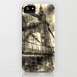 Hammersmith Bridge London Vintage iPhone Case