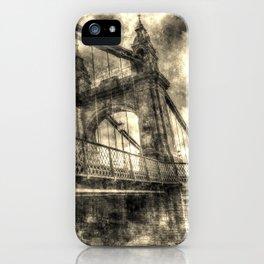 Hammersmith Bridge London Vintage iPhone Case