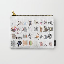 The Many Moods of Cats Carry-All Pouch
