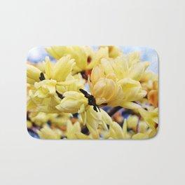 Yellow Magnolia Flowers Bath Mat