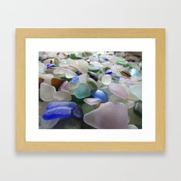 Sea Glass Assortment 6 Framed Art Print
