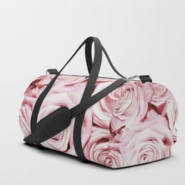 Beautiful bed of pink roses - Floral Rose Flowers Duffle Bag