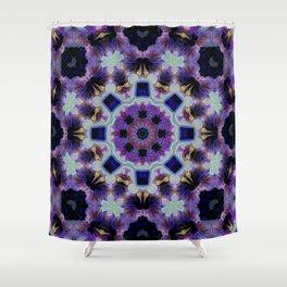 KALEIDOSCOPE HIBISCUS NEON 2 Shower Curtain