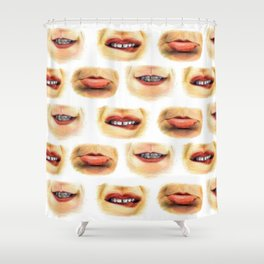 Lips with emotions Shower Curtain