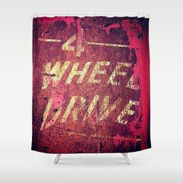 4 Wheel Drive Shower Curtain