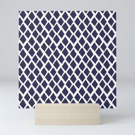 Rhombus Blue And White Mini Art Print