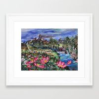 serenity Framed Art Prints featuring Serenity by Art of Leki
