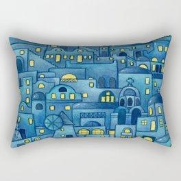 Santorini at night, Greece Rectangular Pillow