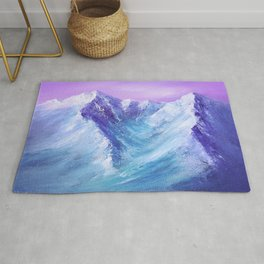 Mountain Painting for Fathers Day Rug