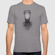 Coffee Tri-Grey LARGE Mens Fitted Tee