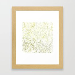 Secret places I - handmade green map Framed Art Print