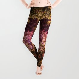 Dragon dreams, fractal pattern abstract Leggings