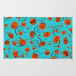 Halloween Magic- Turquoise Rug