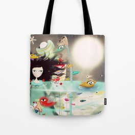 Light and Transparency illustration The Moon Tote Bag