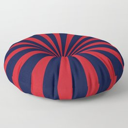 Retro dark blue and red sunburst style abstract background Floor Pillow