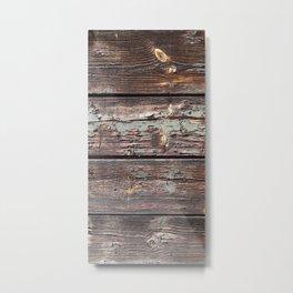 Aged Wood rustic decor Metal Print