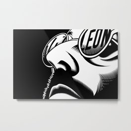Leon the Professional Metal Print