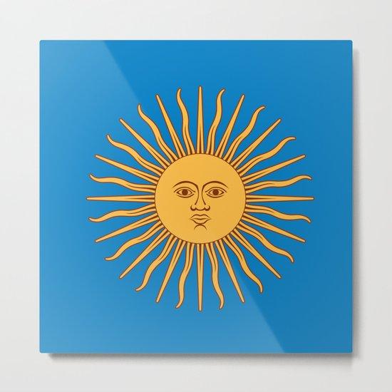 argentina flag sun Metal Print