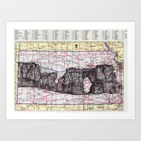 kansas Art Prints featuring Kansas by Ursula Rodgers
