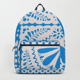 Fiesta de Flores in Party Blue Backpack