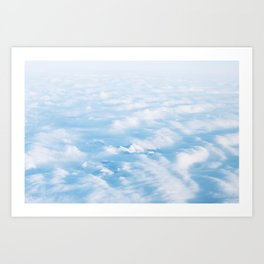 Above the mountains Art Print